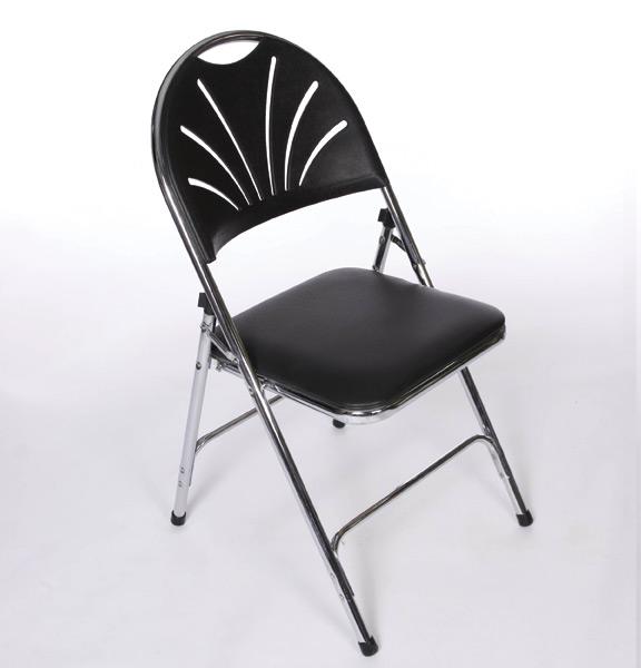 Black Padded Folding Chairs