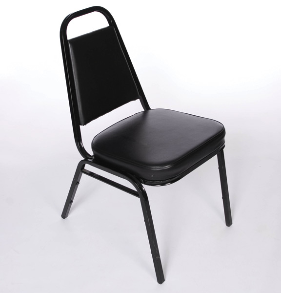 Black Stackable Chairs black padded stacking chairs | united rent all - omaha