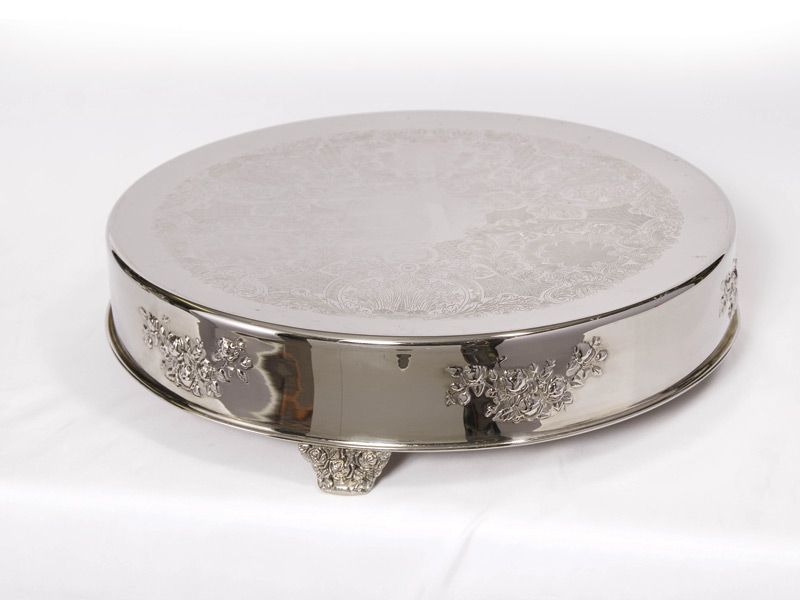 Cake Stand Silver 21 Round United Rent All Omaha