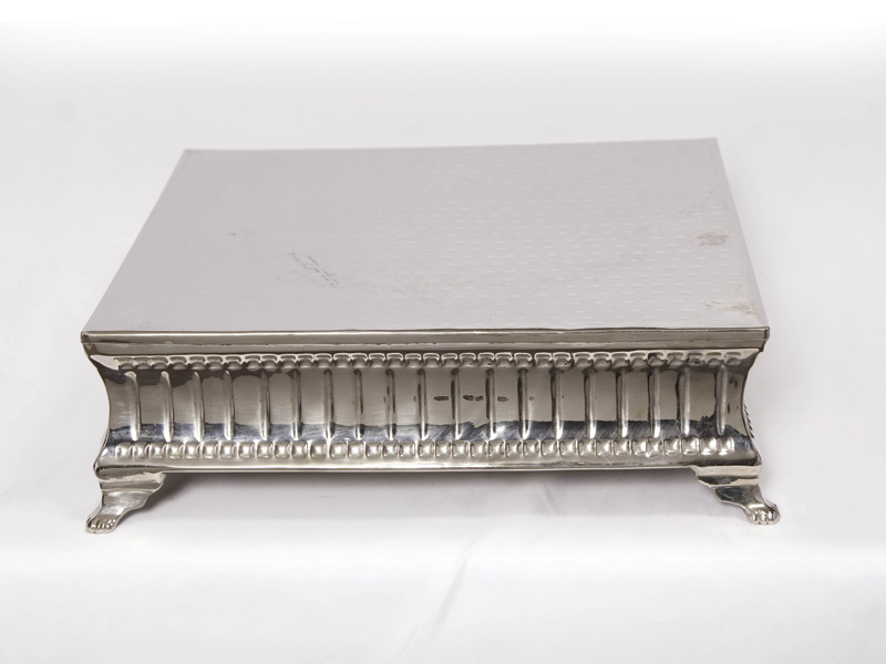 Cake Stand – Silver 18″ Square