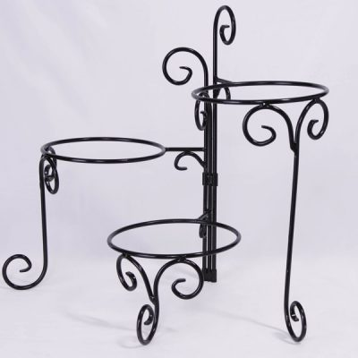 Wrought Iron 3 Tier Stand  sc 1 st  United Rent All & Three Tier Square Plate Stand | United Rent All - Omaha