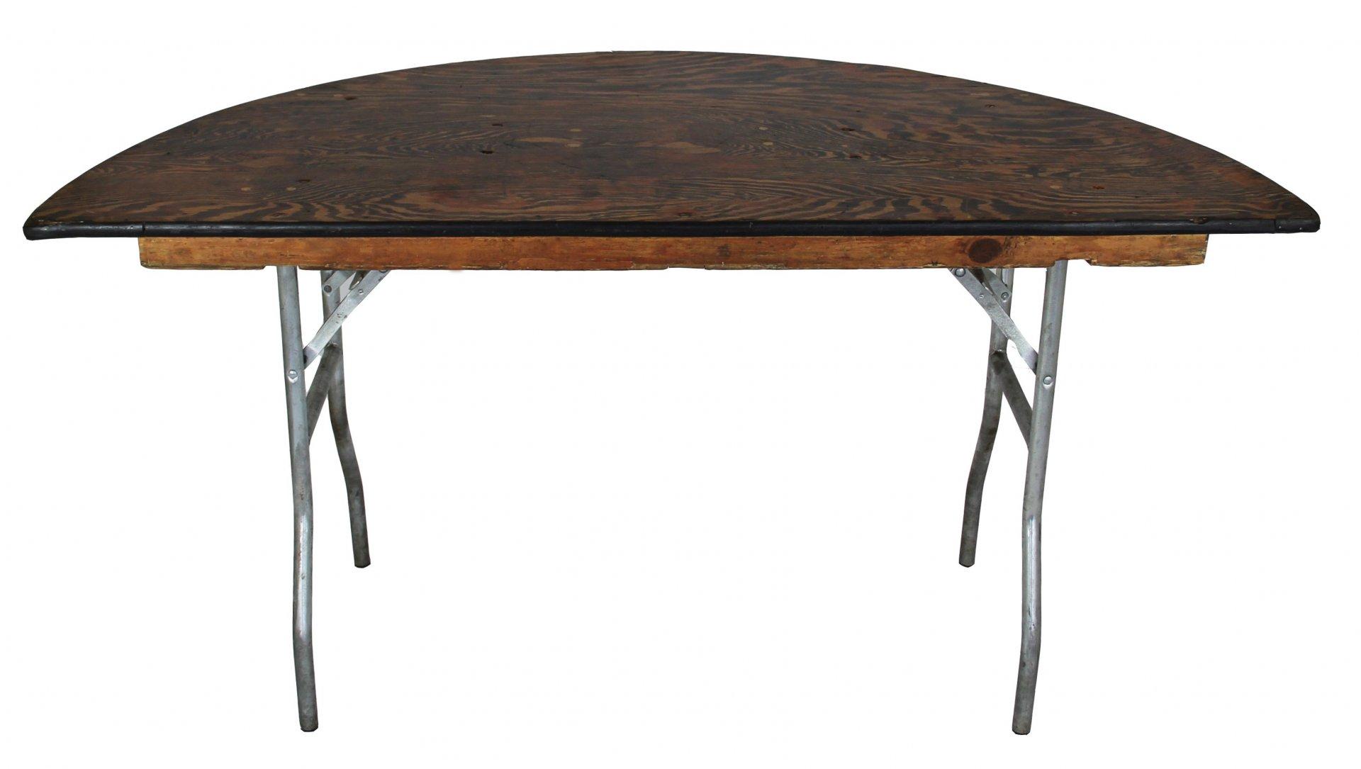 Half Round Table 5′